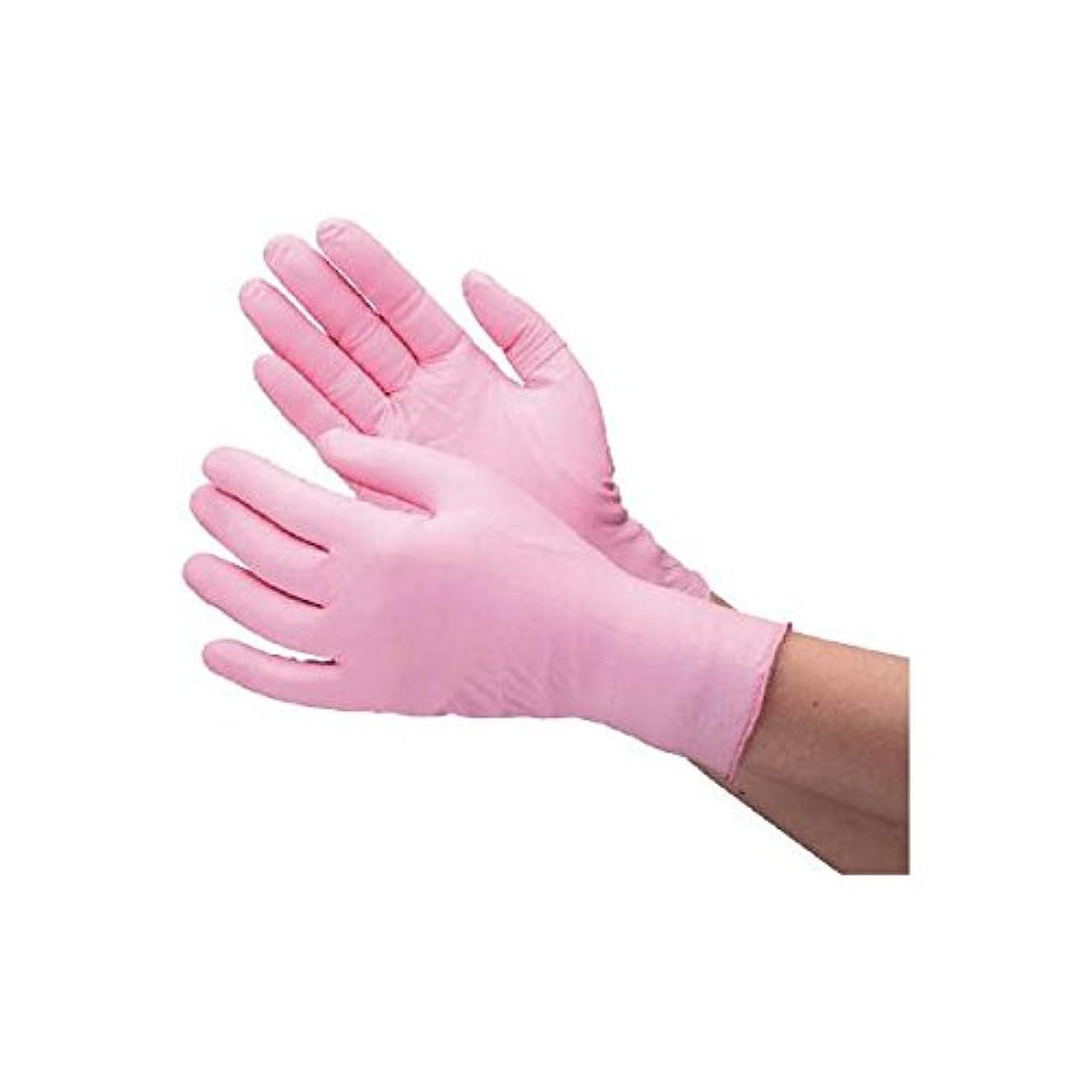 ブレンドコインランドリー繰り返したミドリ安全/ミドリ安全 ニトリル使い捨て手袋 薄手 粉なし 100枚入 ピンク LL(3889211) VERTE-760-LL