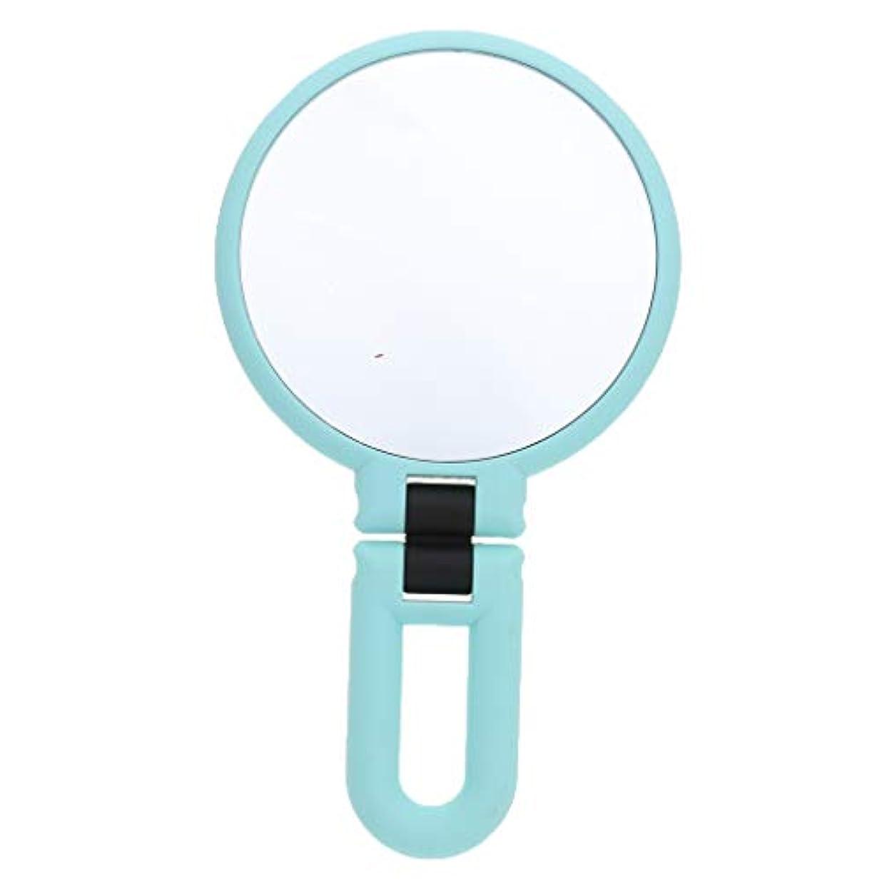 画面カプセルしなやかgazechimp 鏡 化粧鏡 ハンドルミラー 装飾 ポータブル 両面鏡 全3サイズ - 15倍の拡大鏡