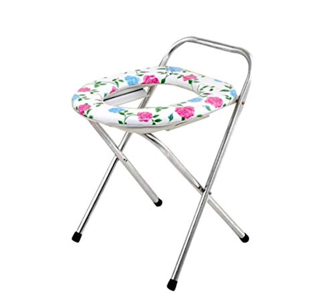 うるさい事前にカロリー高齢者の障害のための折りたたみ式便器椅子止まり台ステンレス鋼フレーム