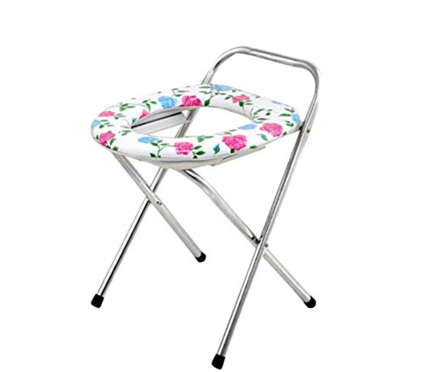 回答耐えられない管理する高齢者の障害のための折りたたみ式便器椅子止まり台ステンレス鋼フレーム