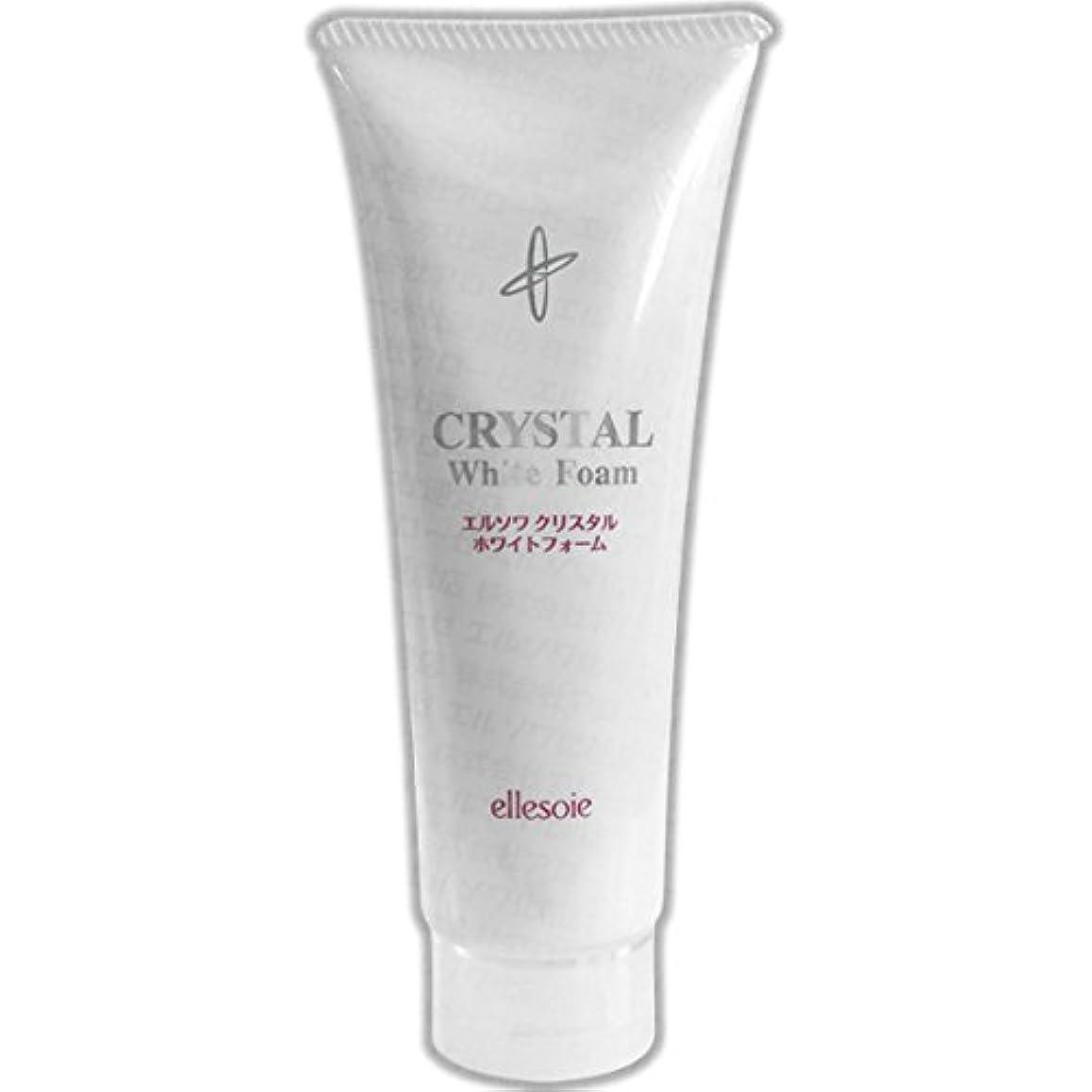 フラフープルーフしなやかエルソワ化粧品(ellesoie) クリスタル ホワイトフォーム 洗顔
