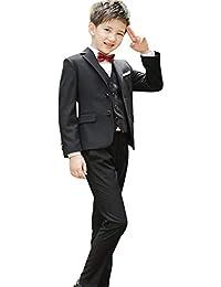 df9d9fae1e596 Emfay 卒業式 スーツ 4点セット キッズ フォーマル 男の子 フォーマル 子供タキシード 入学 ...