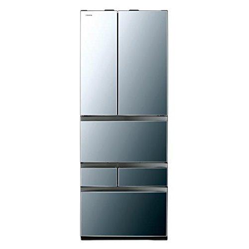 東芝 601L 6ドアノンフロン冷蔵庫 VEGETA ダイヤモンドミラー GRM600FWXX