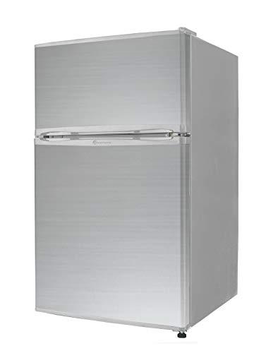 【左右開き対応】TOHOTAIYO 2ドア冷蔵庫 90L TH-90L2 (シルバー)