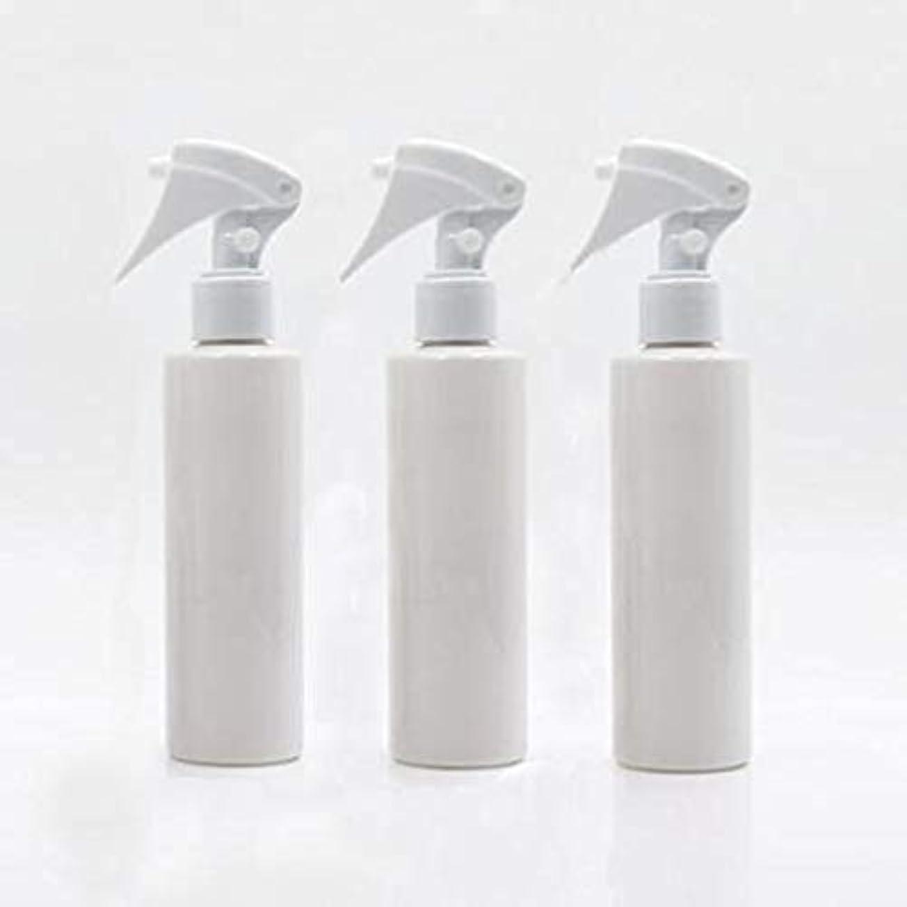 テレックス慣れる値するFlymylion 極細のミストを噴霧する スプレーボトル 詰め替え容器 200ml 3本セット (ホワイト)