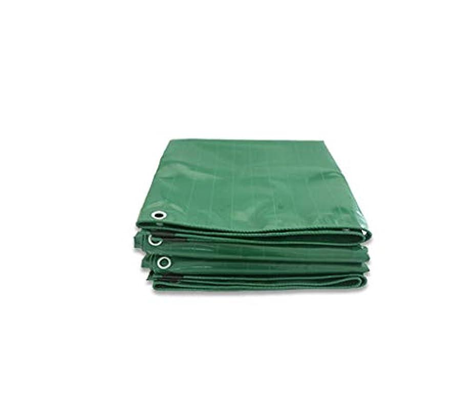 変なシフト住人Tarpaulin 屋外家庭用ピクニックキャンプ/オプションの6色のための防水ポンチョ厚い編み上げターポリン Garden tent (Color : Green, Size : 5*6m)