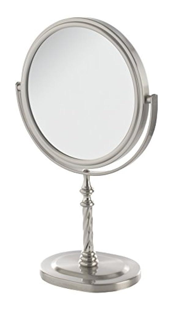 勇気。透けるJerdon(ジェルドン) / JP526N (ニッケル) 拡大鏡 [鏡面 直径15cm] 【5倍率/等倍率】 卓上型テーブルミラー