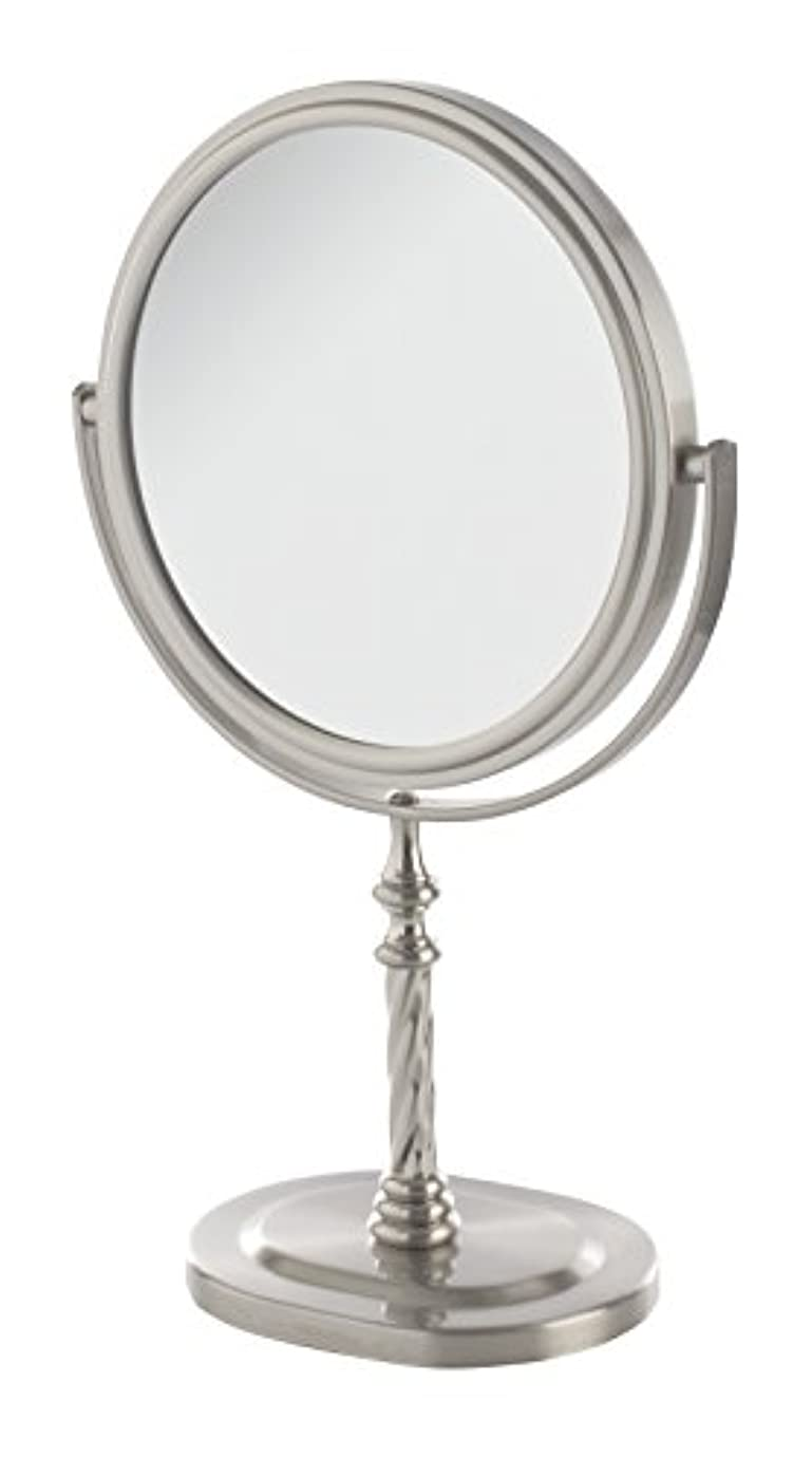 とても成功化粧Jerdon(ジェルドン) / JP526N (ニッケル) 拡大鏡 [鏡面 直径15cm] 【5倍率/等倍率】 卓上型テーブルミラー