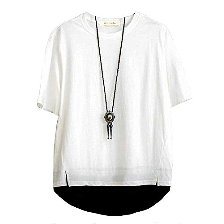 monicle メンズ ビッグ Tシャツ ストリート カットソー 半袖 ビッグシルエット ゆったり シャツ