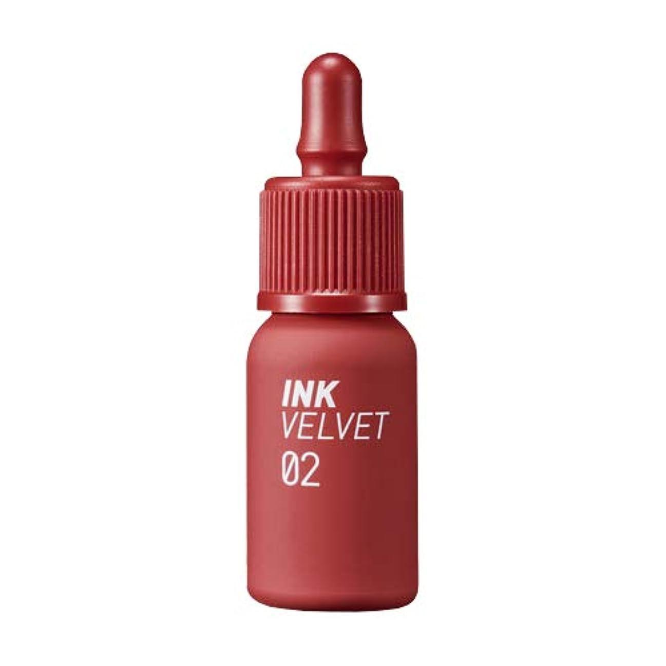 レイアウト情緒的偽装するペリペラ インク ベルベット #02 Celeb Deep Rose 口紅 4g