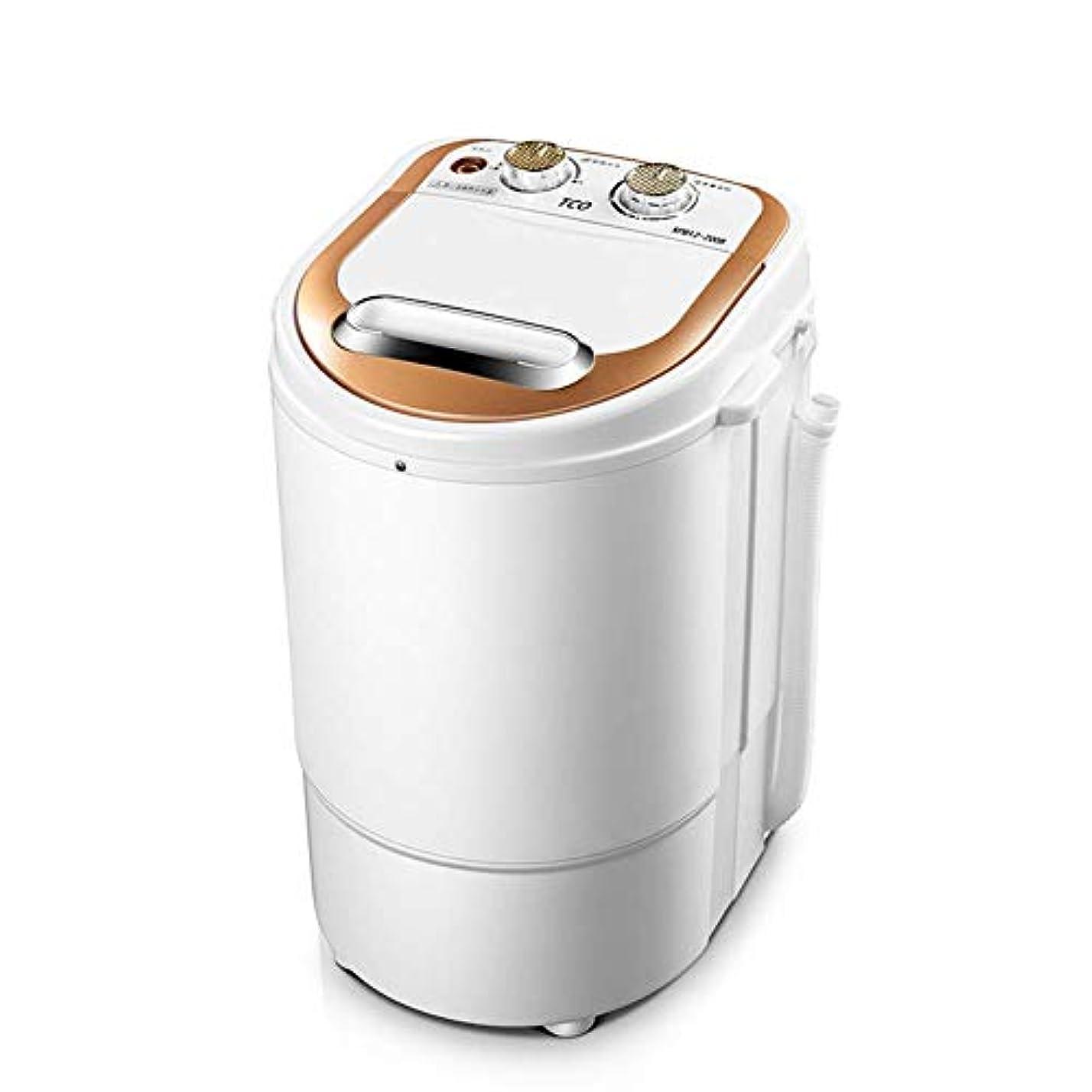 メダリスト船乗り不快な小型小型シングルバレル半自動洗濯機1.5kg洗濯能力ポータブルコンパクト260Wマイクロ洗濯機狭いスペースの寝室に最適(色:ゴールド)
