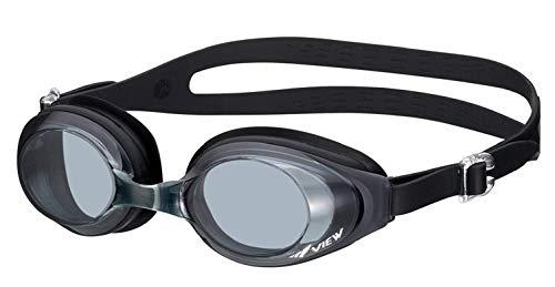ビュー(VIEW) フィットネス スイミングゴーグル 水泳ゴーグル UVカット 曇り防止 柔らかいシリコン 男女兼用 V610 BK