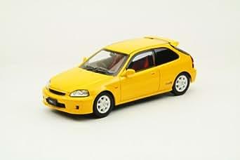 エブロ 1/43 Honda Civic Type R EK9 Late version Yellow 完成品