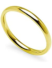 IJewel - Stackable Wedding Bands   2mm Rings in Stainless Steel, Yellow Tone, Rose Tone, Blue & Black Finish