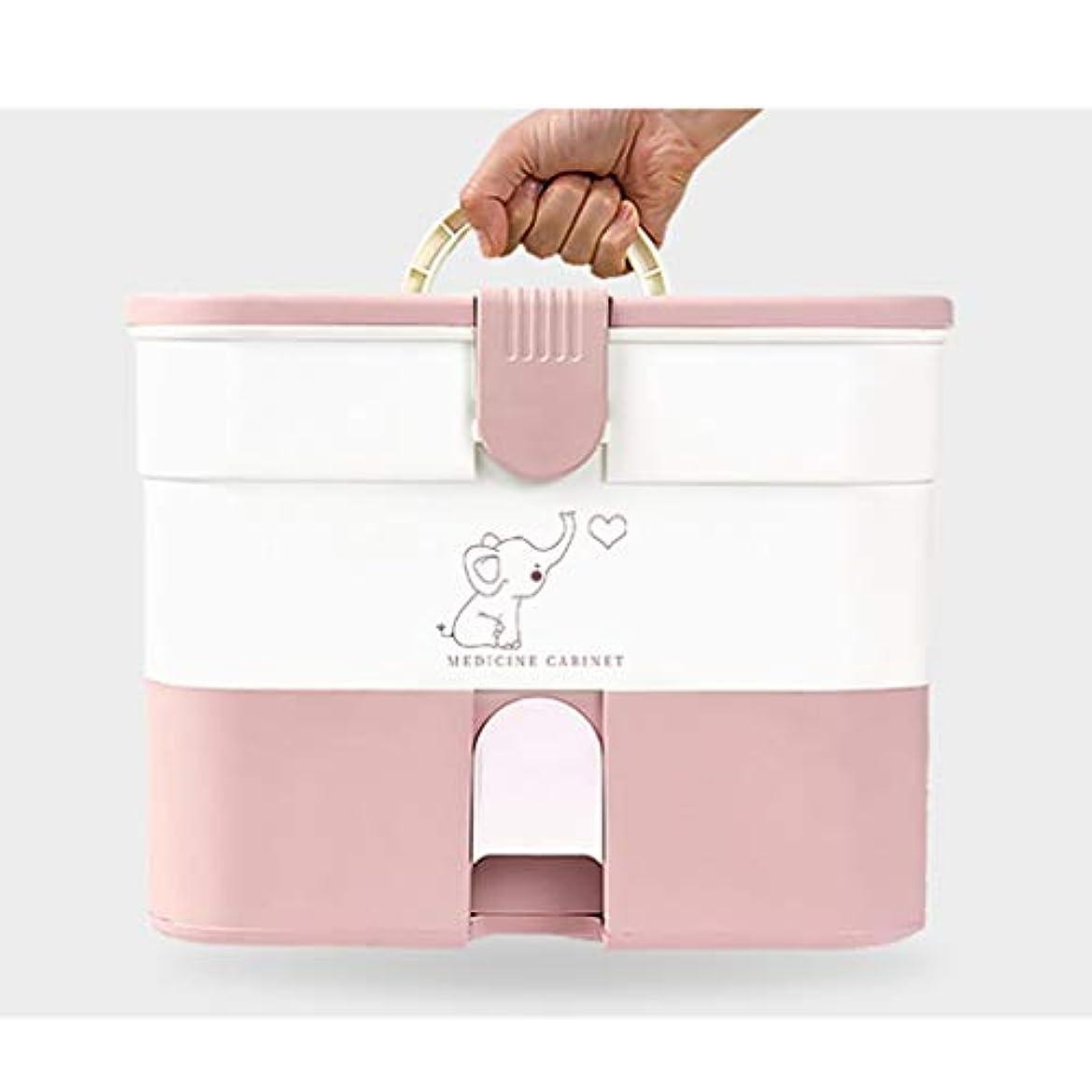 ピクニックモンゴメリー同盟ZXFBM 薬箱、家庭用大容量薬収納箱、家族救急多層医療箱 応急処置キット (Color : C)