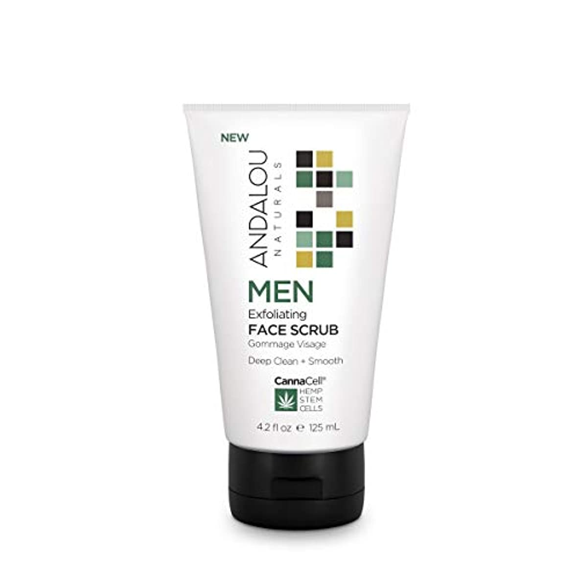 ネイティブパシフィック思い出させるオーガニック ボタニカル 洗顔料 スクラブ洗顔 ナチュラル フルーツ幹細胞 ヘンプ幹細胞 「 MEN エクスフォリエーティングフェイススクラブ 」 ANDALOU naturals アンダルー ナチュラルズ