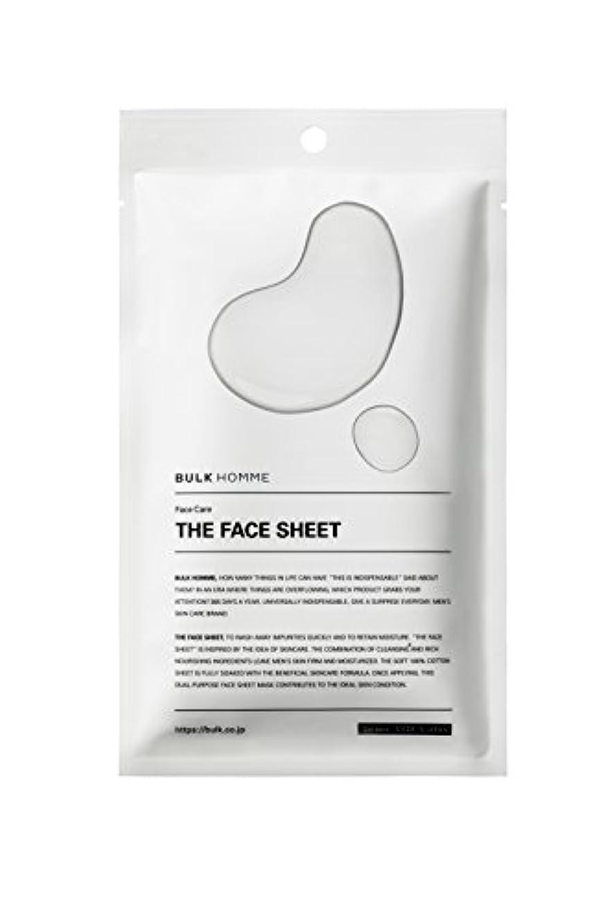 血にやにや絵バルクオム THE FACE SHEET フェイスシート(低刺激 拭き取り化粧水)10枚