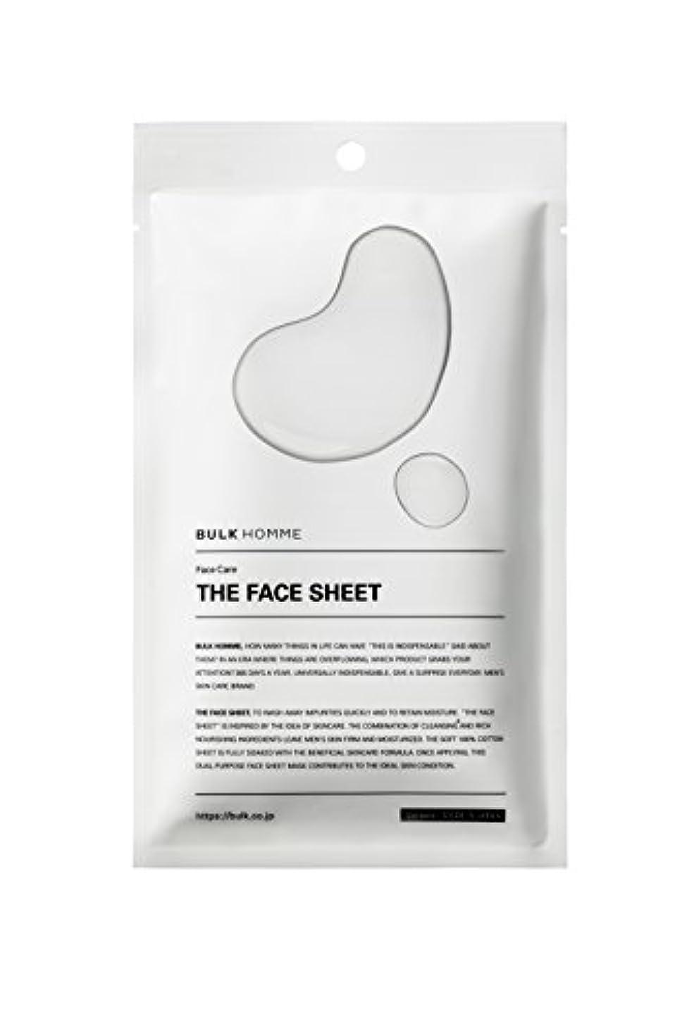 愛されし者体系的に精算バルクオム THE FACE SHEET フェイスシート(低刺激 拭き取り化粧水)10枚