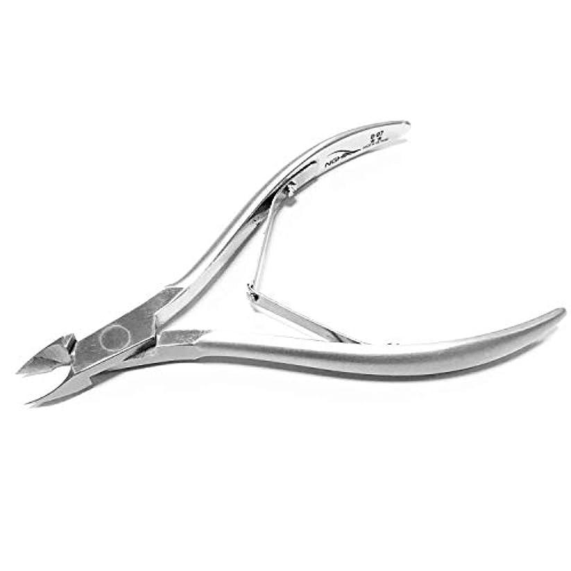 バナナ花火才能NGHIA キューティクルニッパー ペディキュアや美容ツール 理想的 な爪 足爪 用 専門外科グレードのステンレススチールキューティクルニッパー、ニッケルメッキ、シングルスプリング、7mmジョー