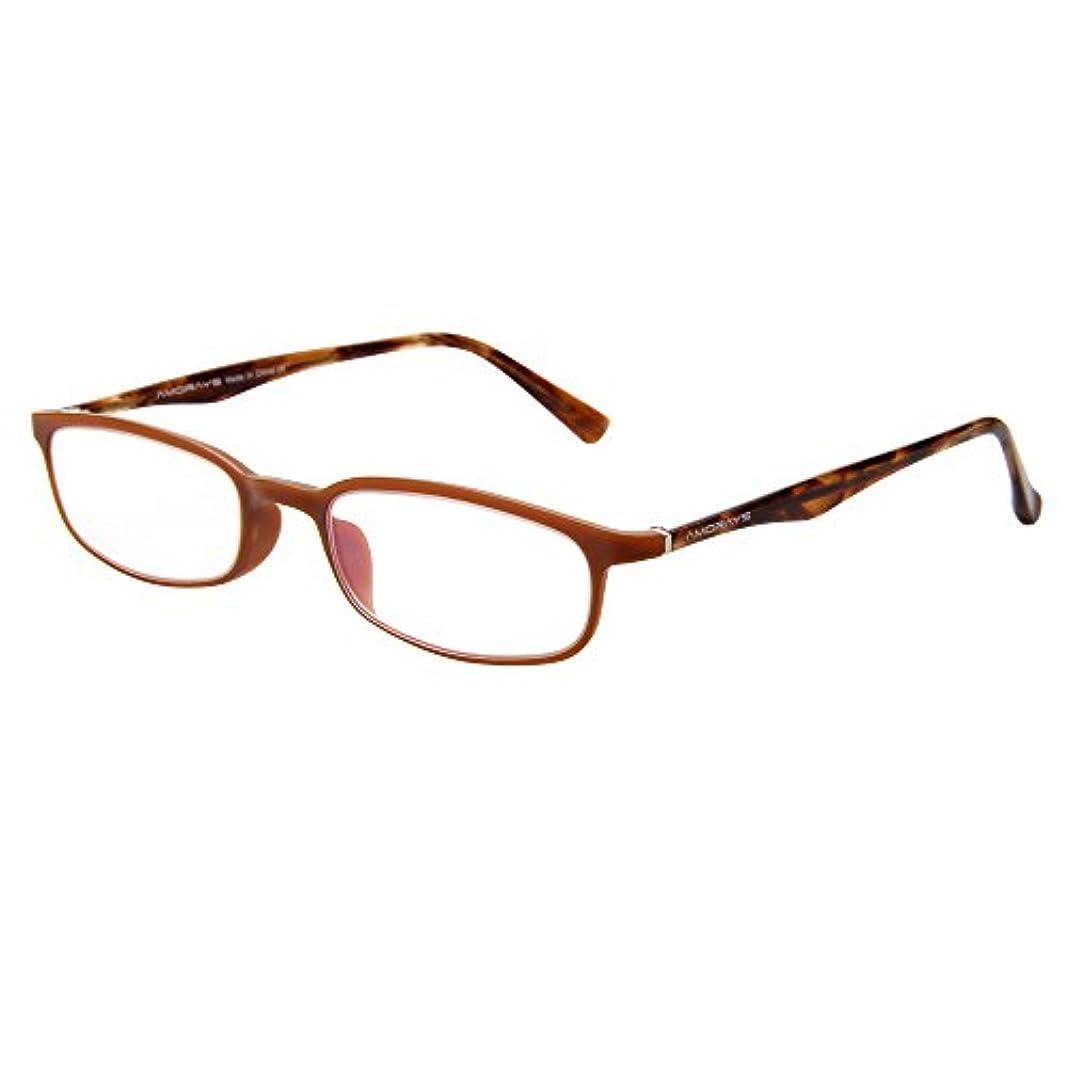 (アモレイズ) AMORAYS老眼鏡 フルリム レディース メンズ 女性 男性 リーディンググラス シニアグラス TR90 リム アセテート テンプル ファッション おしゃれ 老眼鏡 AM503 ブラウン +300