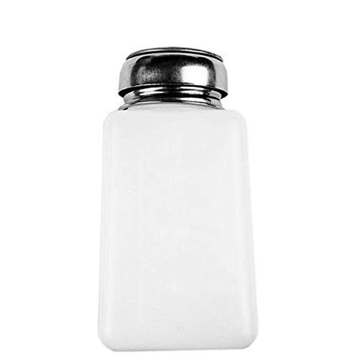 憂慮すべきタイプ全部ネイル用液体金属タッチ流体ディスペンサによってネイルポリッシュリムーバー1PC 200MLプッシュダウンディスペンサーポンプ圧送ボトルアルコール飲料