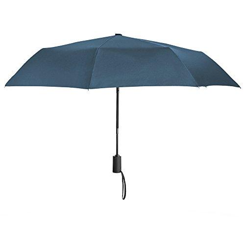 PLEMO 折りたたみ傘 ワンタッチ自動開閉 折り畳み傘 耐強風 錆び止め8本傘骨 ネイビーブルー (94センチ)