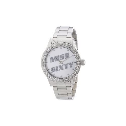 Miss Sixty ミスシックスティー Ladies Watch Sr4005 In Collection Glenda, 2 H and S, Silver Dial and ステンレススチール Bracelet レディス 女性用 腕時計: 腕時計[並行輸入品]