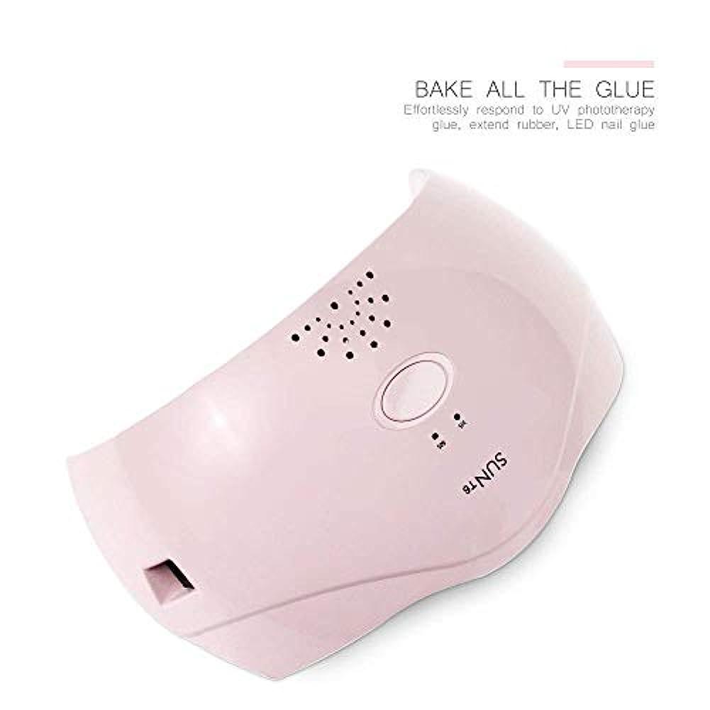 ビジュアルプリーツ比喩ネイルマシン24ワットスマートネイル光線療法機デュアル光源2スピードタイマークイック乾燥、ピンク (Color : Pink)