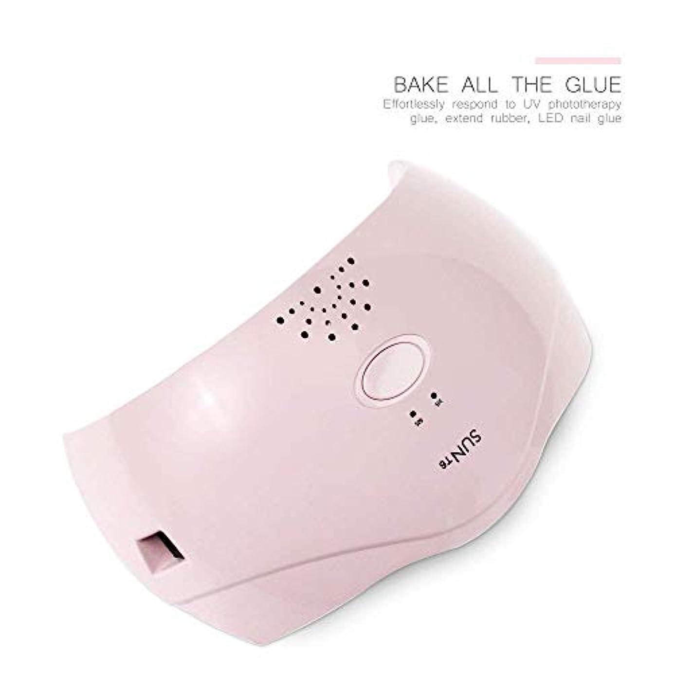 維持する使用法傾向ネイルマシン24ワットスマートネイル光線療法機デュアル光源2スピードタイマークイック乾燥、ピンク (Color : Pink)