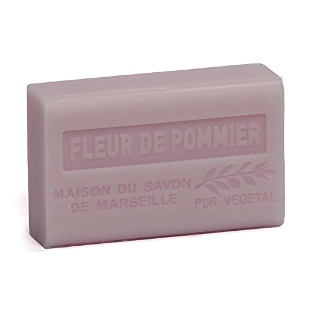 熱狂的な上流のすぐにSavon de Marseille Soap Apple Blossom Shea Butter 125g