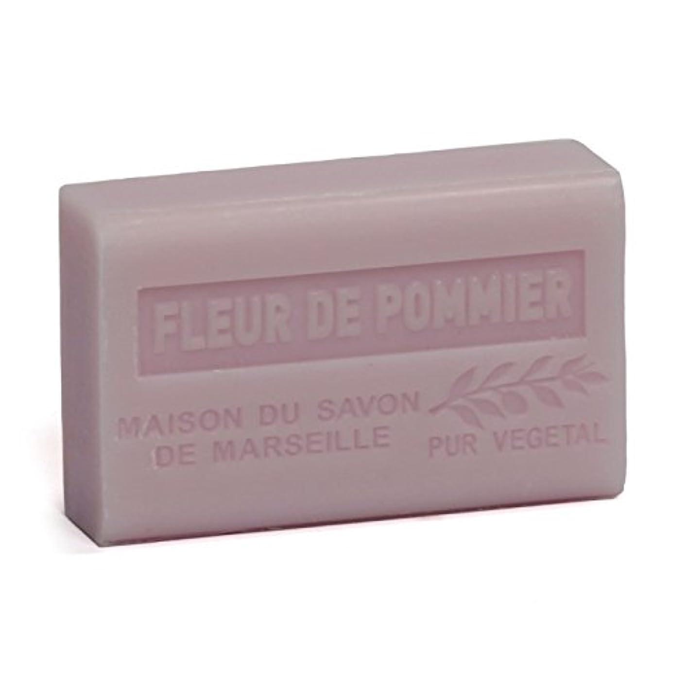 複雑なドループ性的Savon de Marseille Soap Apple Blossom Shea Butter 125g
