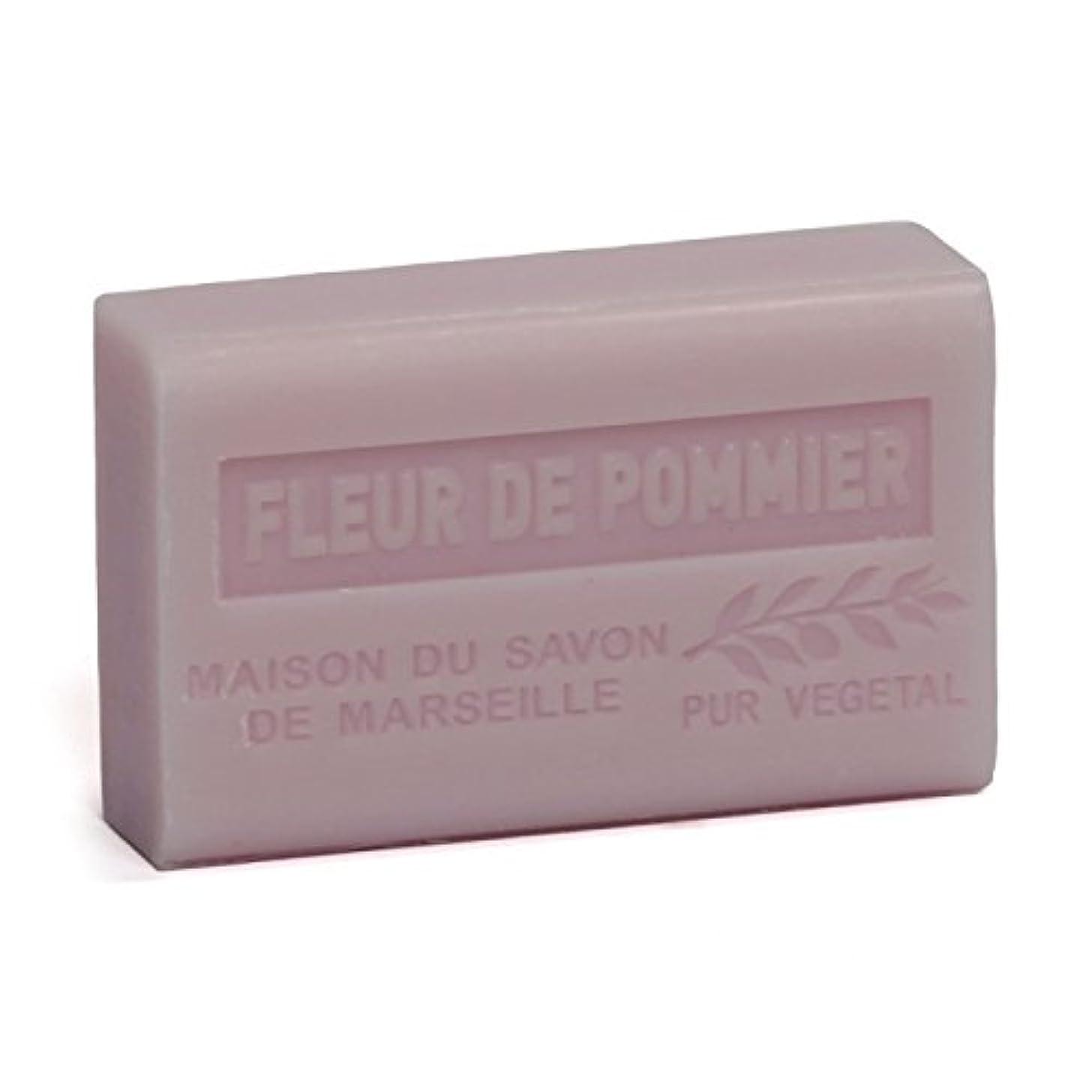 指定する葉を集める剪断Savon de Marseille Soap Apple Blossom Shea Butter 125g