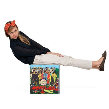 WOOUF!BARCELONA (ウーフバルセロナ) スツール The Beatles Vinyls 40x40x40cm