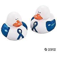 6 Blue Awareness Ribbon Rubber Ducks by FX [並行輸入品]
