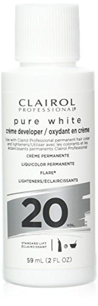 欲望なぜなら草Clairoxide Pure White 20 Volume Creme Developer by Clairol