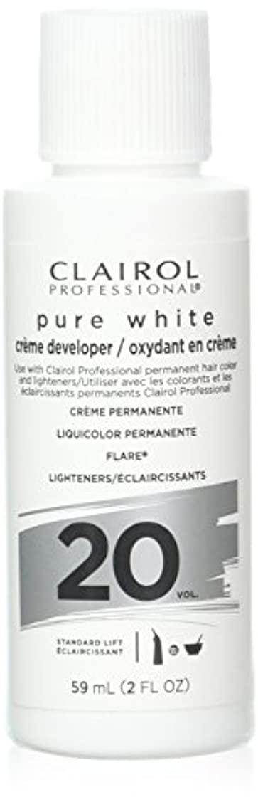 アジャ正確言い直すClairoxide Pure White 20 Volume Creme Developer by Clairol