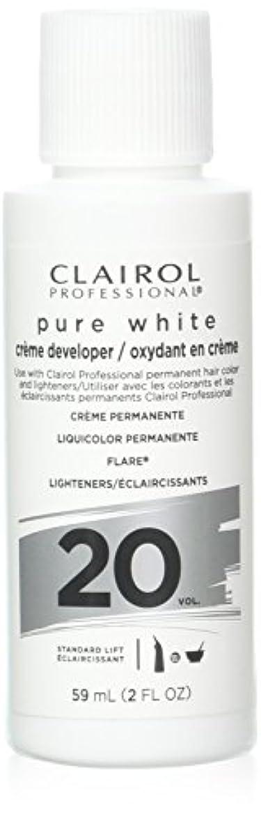 建築限られたコードClairoxide Pure White 20 Volume Creme Developer by Clairol