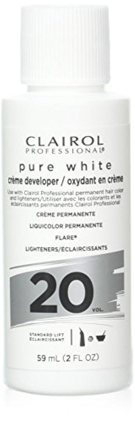 印をつける寝室を掃除するエリートClairoxide Pure White 20 Volume Creme Developer by Clairol