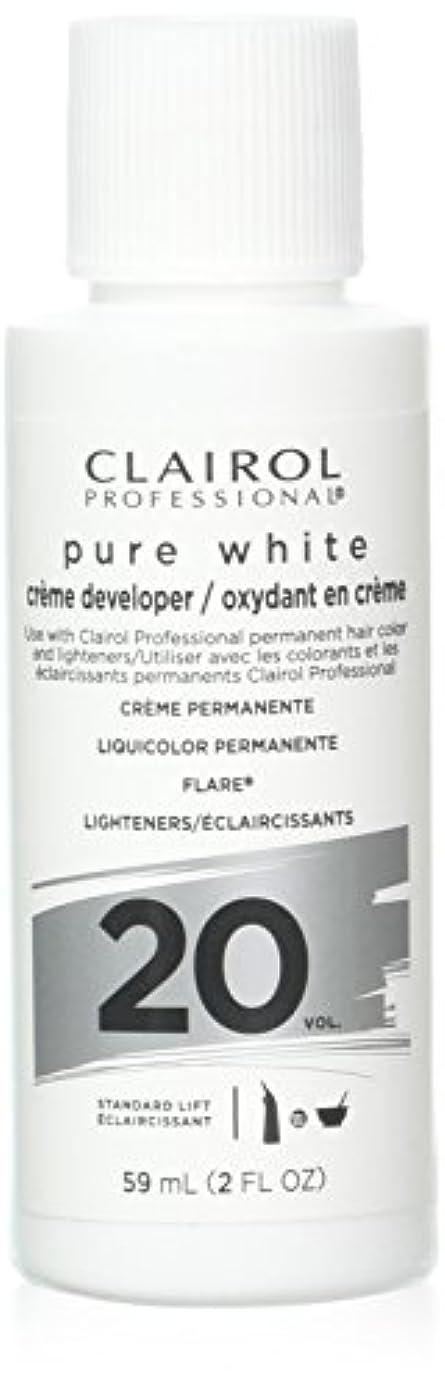ふつう疲れた有利Clairoxide Pure White 20 Volume Creme Developer by Clairol