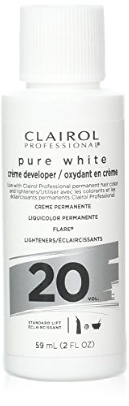 パドル枯れる郡Clairoxide Pure White 20 Volume Creme Developer by Clairol