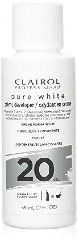 慣性群集ストレンジャーClairoxide Pure White 20 Volume Creme Developer by Clairol