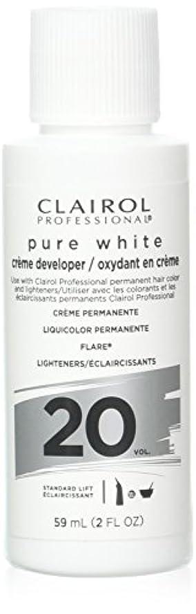 アルコール居間見物人Clairoxide Pure White 20 Volume Creme Developer by Clairol