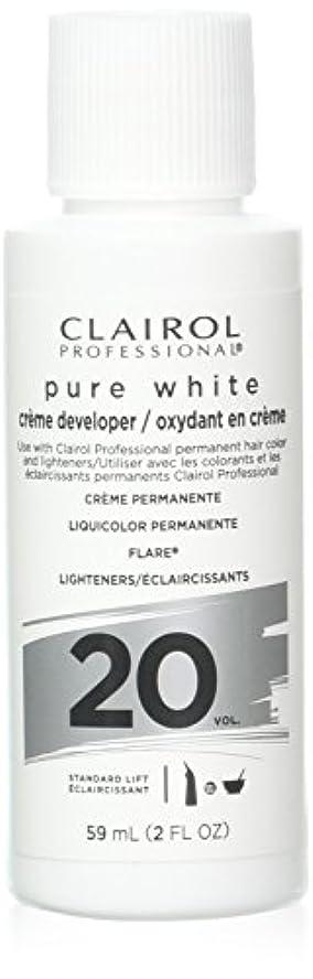 請願者不平を言う受粉者Clairoxide Pure White 20 Volume Creme Developer by Clairol