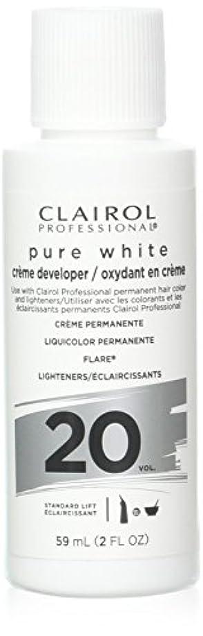 アダルト甘やかす増加するClairoxide Pure White 20 Volume Creme Developer by Clairol