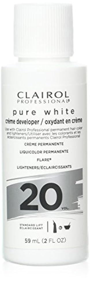 妨げる深める遠いClairoxide Pure White 20 Volume Creme Developer by Clairol