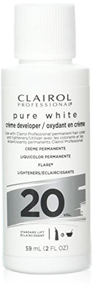 卑しい回答お手伝いさんClairoxide Pure White 20 Volume Creme Developer by Clairol