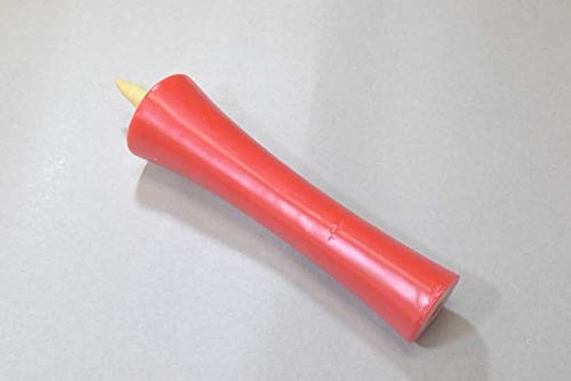 まっすぐ学習傑作和ろうそく 型和蝋燭 ローソク【朱】 イカリ 30号 朱色 6本入り