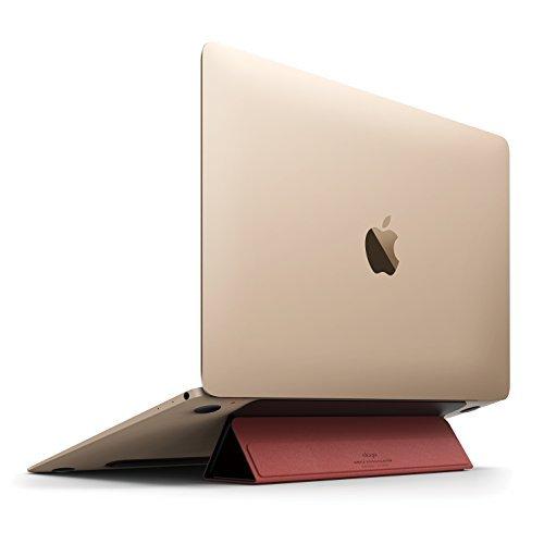 elago FLIP STAND 各種 Macbook / ノートパソコン 対応 フリップスタンド for MacBook Pro 2016 / MacBook Pro 13 / MacBook Pro 15 / MacBook Air 11 / MacBook Air 13 / MacBook 12 ブラック×レッド