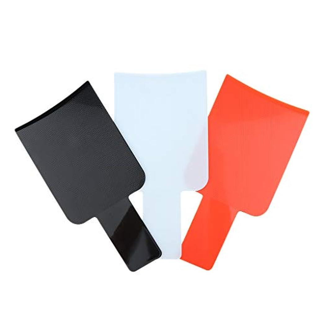 レモン端末発生する3個 ハイライトボード ヘアカラーボード ヘアサロン プラスチック 使いやすい