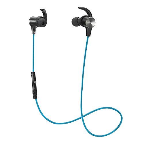 TaoTronics マグネティック ヘッドホン Bluetooth 4.1 内蔵式マイク TT-BH07 青